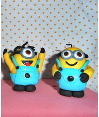 photo  Minions cake topper tutorial