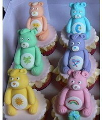 photo Care Bears cake toppers step by step