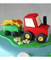 photo  Gum paste ( polymer clay) Tractor cake topper tutorial