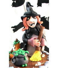 photo  halloween witch cake topper tutorial