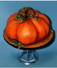 photo Halloween Pumpkin cake tutorial