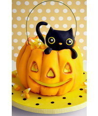 photo Black cat in the Pumpkin basket tutorial