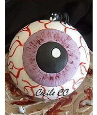 photo  3D eye cake tutorial