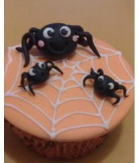 photo Spider cupcake tutorial
