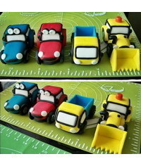 photo Tractor, truck and excavator cake topper tutorials