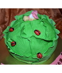 photo  3D cabbage cake tutorial