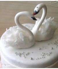 photo  Swans Wedding Cake Topper Tutorial