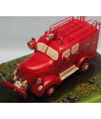 photo How to carve 3D Fire Truck