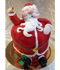 photo 3D Santa cake tutorial
