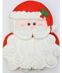 photo Santa cake tutorial