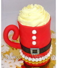photo  Santa's cup cake tutorial