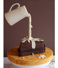 photo Gravity Defying Chocolate Cake tutorial