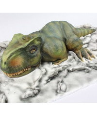 photo  3D Carved Dinosaur cake tutorial