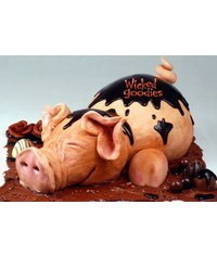 photo Carved 3D Pig cake tutorial