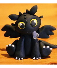 photo Baby Toothless cake topper tutorial