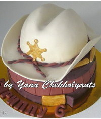 photo  How to Make a Cowboy Hat Cake