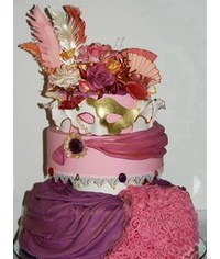 photo  Carnival of Venice cake tutorial