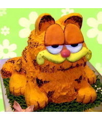 photo 3D Garfield cake tutorial