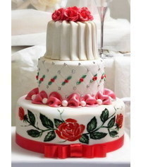 photo  Billow and rose cake tutorial
