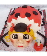 photo Carved Ladybug cake how to