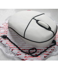 photo 3D Computer mouse cake tutorial