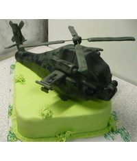 photo helicopter cake topper tutorial