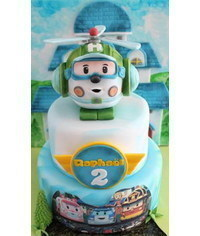photo  Robocar Poli cake topper tutorial