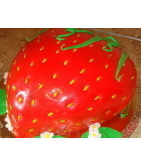 photo Strawberry shaped cake tutorial