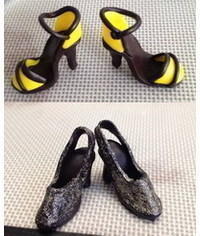 photo miniature shoes step by step