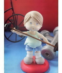 photo how to make fondant (gumpaste) standing figure