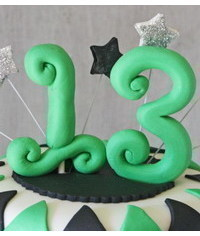 photo How to Make Fondant Number Cake Toppers