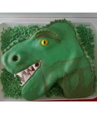 photo dinosaur with mouth wide open cake tutorial