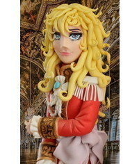 photo  The Rose of Versailles (Lady Oscar) cake topper tutorial