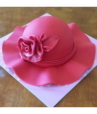 photo Carved 3D Hat cake tutorial