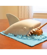 photo  Carved shark cake tutorial