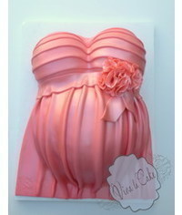photo  Pregnant Belly Cake tutorial