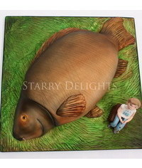 photo  Carved Carp Cake and Tutorial