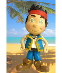 photo  Jake and the Never Land Pirates cake topper tutorial