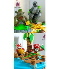 photo  Skylanders Characters cake toppers step by step