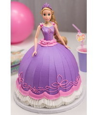 photo  Buttercream decorated barbie cake tutorial