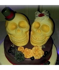 photo Halloween cake toppes step by step