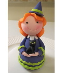 photo witch cake topper tutorial