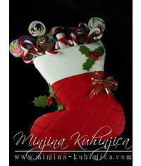 photo  Christmas stocking cake tutorial