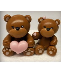 photo  How to make teddy bears cake topper