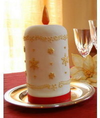 photo Candle cake tutorial
