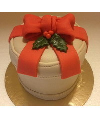 photo  Christmas box cake tutorial