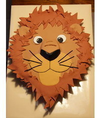 photo Lion head cake tutorial