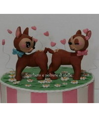 photo How to make bambi characters cake topper