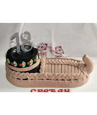 photo  Opanak shoe cake tutorial