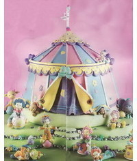 photo  Gumpaste (fondant, polymer clay) Circus making tutorials